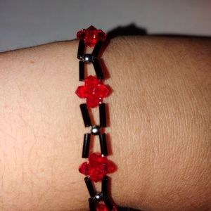 Beautiful Swarovski crystal flower bracelet